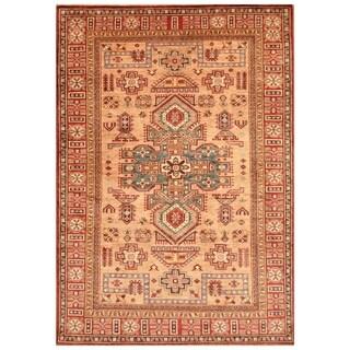 Handmade Super Kazak Wool Rug (Afghanistan) - 4' x 6'9