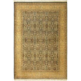 Tabriz Pak-Persian Alayna Lt. Blue/Lt. Gold Wool Rug (10'0 x 14'2) - 10 ft. 0 in. x 14 ft. 2 in.