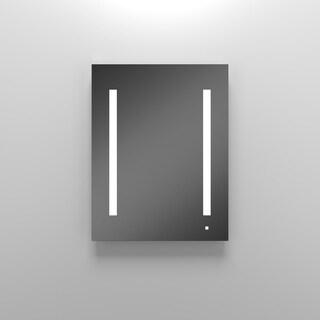 Robern 1 Door Plain Medicine Cabinet AC2430D4P1L with Light Fixture