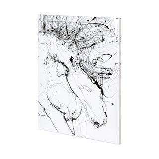 Mercana Horse Contour 1 (36 x 48) Made to Order Canvas Art