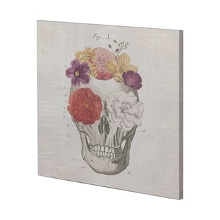 Mercana Floral Skull I (44 x 44) Made to Order Canvas Art