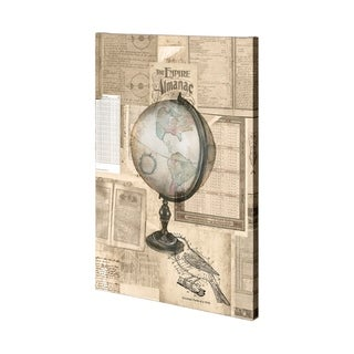 Mercana Academic Globe Illustration (36 x 54) Made to Order Canvas Art