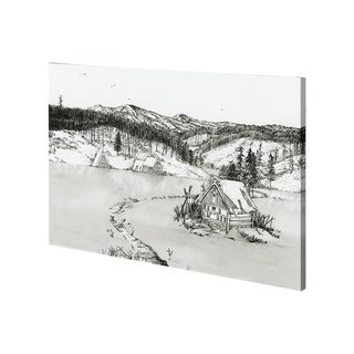 Mercana SnowyPlain II (42 x 28) Made to Order Canvas Art