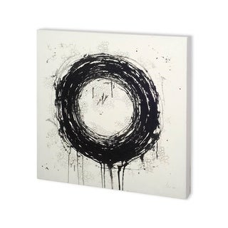 Mercana Cracking black circle (30 x 30) Made to Order Canvas Art