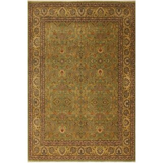 Istanbul Tamara Lt. Green/Gold Wool Rug (8'3 x 10'1) - 8 ft. 3 in. x 10 ft. 1 in.