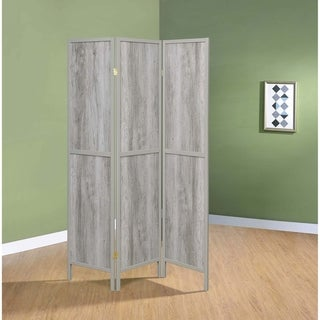 "Carbon Loft Chablis Grey Driftwood 3-panel Folding Screen - 52"" x 0.75"" x 70.25"""