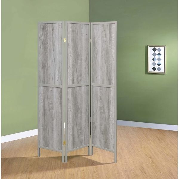 "Carbon Loft Chablis Grey Driftwood 3-panel Folding Screen - 52"" x 0.75"" x 70.25"""