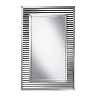 """Silver Orchid Bech Silver Framed Wall Mirror - 31.50"""" x 1.25"""" x 47.25"""""""