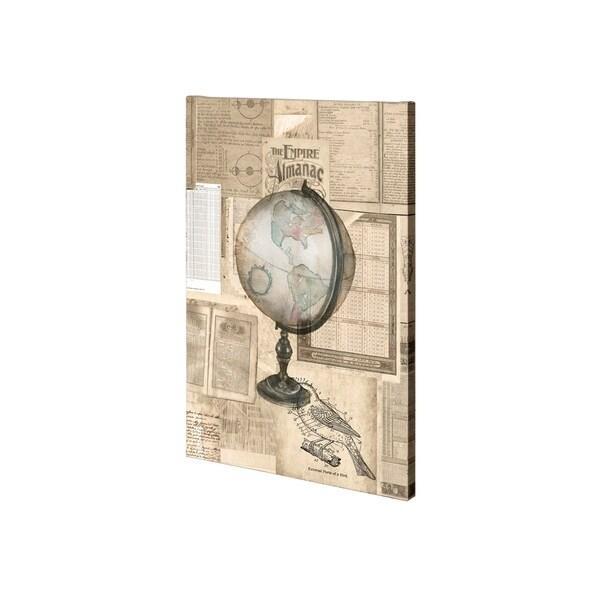 Mercana Academic Globe Illustration (28 x 42) Made to Order Canvas Art