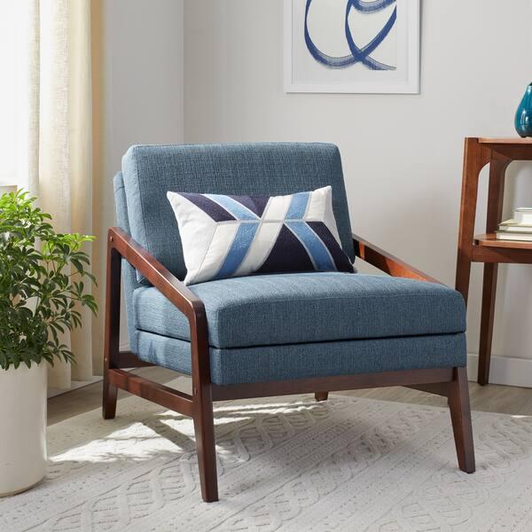 Terrific Shop Carson Carrington Robey Blue Accent Chair Free Machost Co Dining Chair Design Ideas Machostcouk