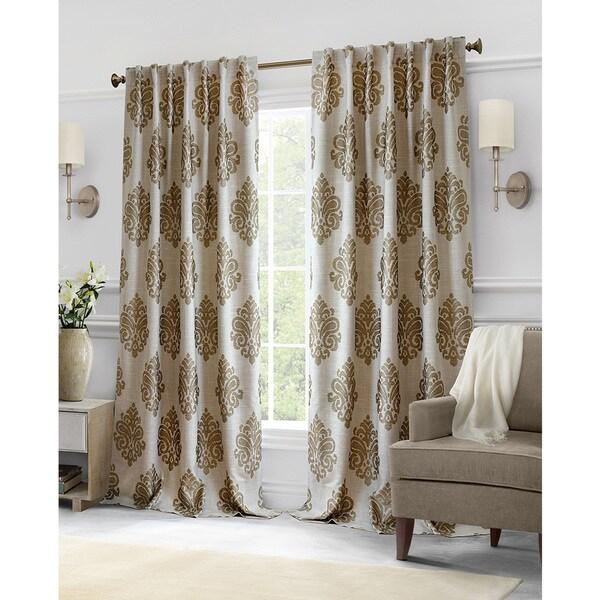 Shop Softline Hillston Cream Medallion Curtain Panel 96