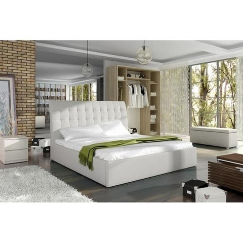 TERASSO Platform Bed European King Size with mattress 180x200