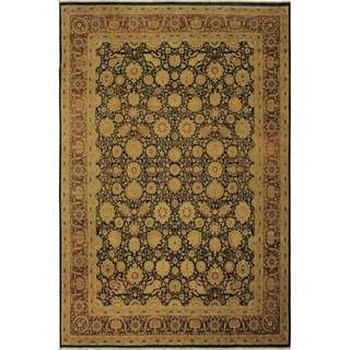 Antique Vegtable Dye Tabriz Renay Blue/Rust Wool Rug (9'1 x 12'2) - 9 ft. 1 in. x 12 ft. 2 in.