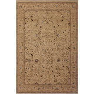 Antique Vegtable Dye Tabriz Taunya Ivory/Ivory Wool Rug (9'1 x 12'1) - 9 ft. 1 in. x 12 ft. 1 in.