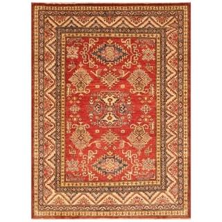Handmade Super Kazak Wool Rug (Afghanistan) - 4'4 x 6'7