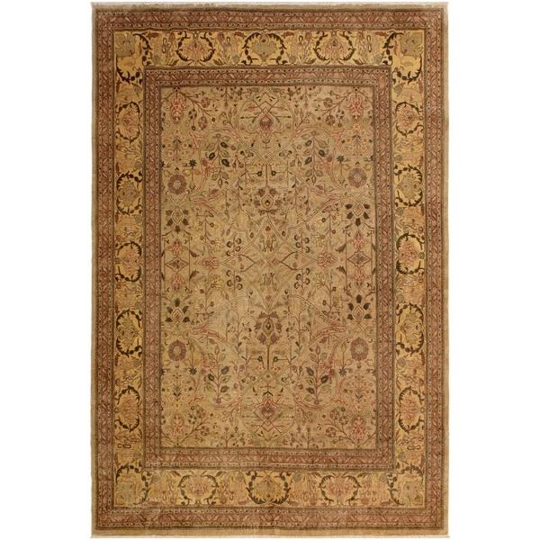 Istanbul Carlene Lt. Tan/Tan Wool Rug (9'0 x 11'11) - 9 ft. 0 in. x 11 ft. 11 in.