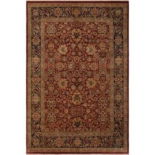 Antique Vegtable Dye Latonya Red/Blue Wool Rug (8'0 x 9'10) - 8 ft. 0 in. x 9 ft. 10 in.