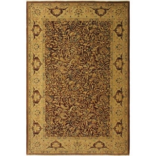 Istanbul Camille Brown/Tan Wool Rug (10'5 x 13'9) - 10 ft. 5 in. x 13 ft. 9 in.