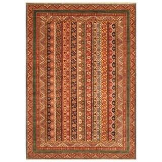 Handmade Super Kazak Wool Rug (Afghanistan) - 5' x 7'