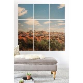 Deny Designs Arizona Desert Wood Wall Mural- 9 Squares - Blue/Green/Red