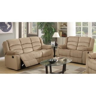 Osbourne Microfiber Fabric Upholstered 2-Piece Living Room Recliner Sets