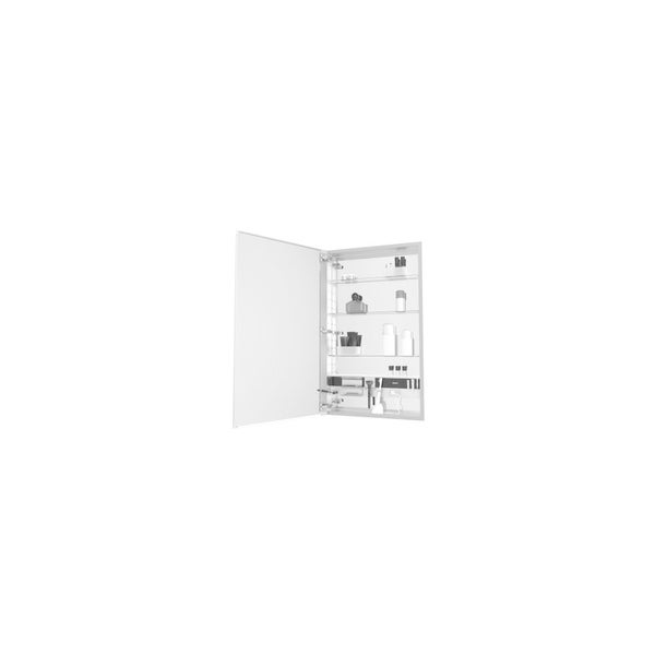 Robern M Series 1 Door Plain Medicine Cabinet MC2440D4FPLE4 with Light Fixture