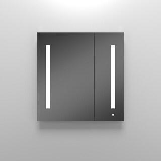 Robern 2 Door Flat Medicine Cabinet AC3030D4P2L with Light Fixture