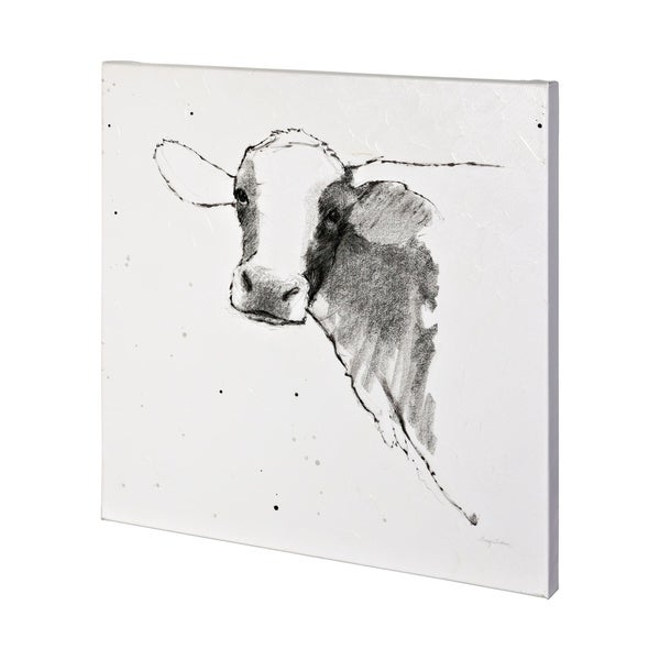 Mercana Cow II Dark Square (44 x 44) Made to Order Canvas Art