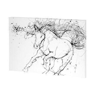 Mercana Horse Contour 2 (48 x 36) Made to Order Canvas Art