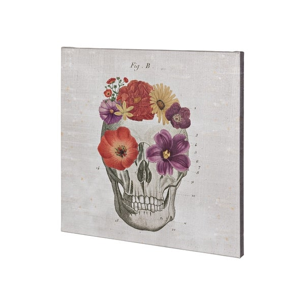 Mercana Floral Skull II (30 x 30) Made to Order Canvas Art