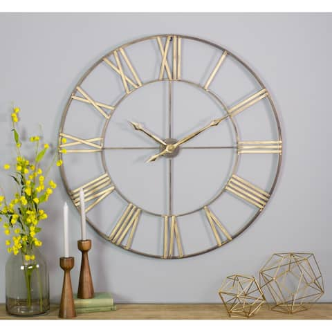The Gray Barn Jartop Round Metal Wall Clock