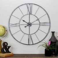 """Dorian Round Metal Wall Clock - 30""""H x 30""""W x 1""""D"""