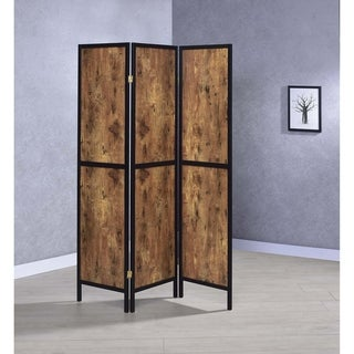 "Carbon Loft Chablis Antique Nutmeg 3-panel Folding Screen - 52"" x 0.75"" x 70.25"""