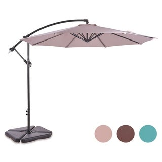 Weller 10 Ft Offset Cantilever Hanging Patio Umbrella