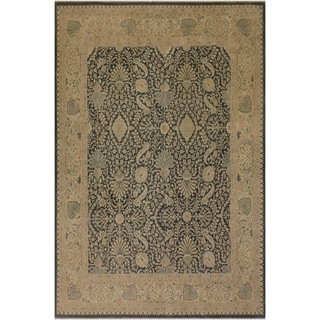 Istanbul Stella Charcoal/Tan Wool Rug (8'0 x 10'3) - 8 ft. 0 in. x 10 ft. 3 in.