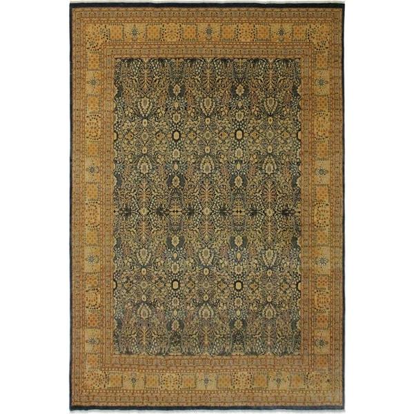 Antique Vegtable Dye Tabriz Maribel Lt. Blue/Gold Wool Rug (8'9 x 11'10) - 8 ft. 9 in. x 11 ft. 10 in.