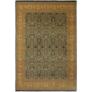 Antique Vegtable Dye Tabriz Maribel Lt. Blue/Gold Wool Rug (8'9 x 11'10) - 8 ft. 9 in. x 11 ft. 10 in.