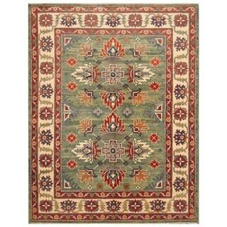 Handmade Super Kazak Wool Rug (Afghanistan) - 5'4 x 6'10