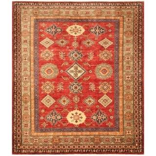 Handmade Super Kazak Wool Rug (Afghanistan) - 6' x 6'10