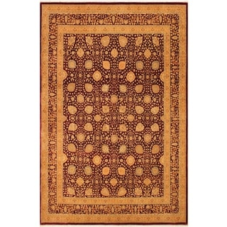 Istanbul Deena Drk. Red/Gold Wool Rug (9'1 x 11'9) - 9 ft. 1 in. x 11 ft. 9 in.