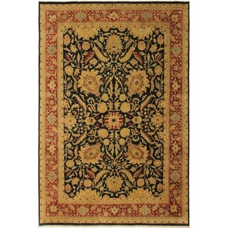 Antique Vegtable Dye Sultanabad Carolee Blue/Red Wool Rug (9'11 x 13'10) - 9 ft. 11 in. x 13 ft. 10 in.