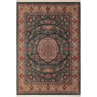 Kashan Pak-Persian Ariel Green/Ivory Wool Rug (8'2 x 10'3) - 8 ft. 2 in. x 10 ft. 3 in.