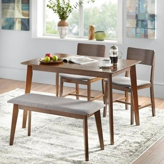 Dining room table bench Formal Simple Living Judith Dining Set With Bench Overstock Buy Bench Seating Kitchen Dining Room Sets Online At Overstockcom