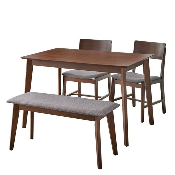 Fine Shop Simple Living Judith Dining Set With Bench On Sale Bralicious Painted Fabric Chair Ideas Braliciousco