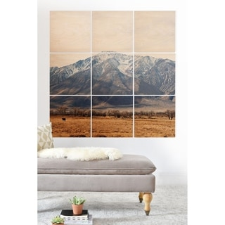 Deny Designs Mountain Valley Wood Wall Mural- 9 Squares - Brown/Multi-color