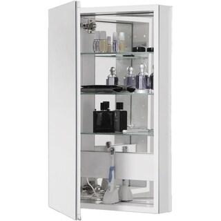Robern Pl Series 1 Door Flat Medicine Cabinet PLM2040W White