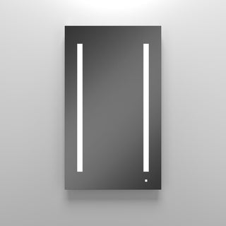 Robern Aio 1 Door Medicine Cabinet AC2440D4P1L with Light Fixture