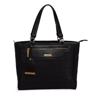 TAHARI NEW YORK Chelsea Quilt Collection Everyday Work School College or Shopper Tote-Black