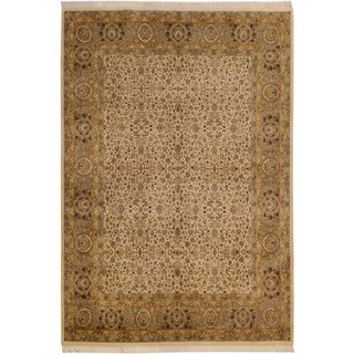 Pak-Persian Tonette Ivory/Lt. Green Wool Rug (9'1 x 12'0) - 9 ft. 1 in. x 12 ft. 0 in.