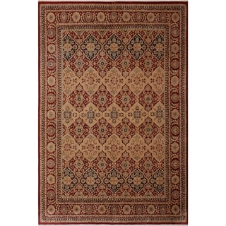 Antique Vegtable Dye Jeanette Red/Tan Wool Rug (8'2 x 10'2) - 8 ft. 2 in. x 10 ft. 2 in.